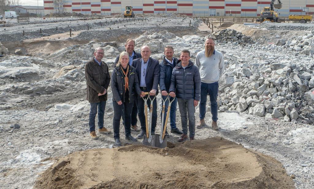 Byggnationen av verksamhetslokal åt Nybergs Deli, Haninge kommun 2