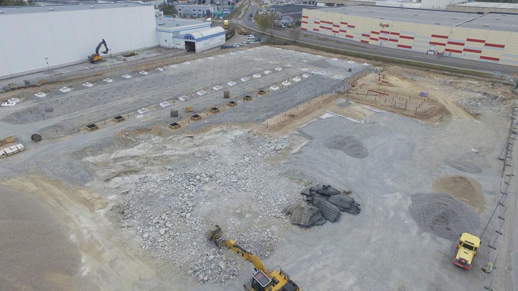Byggnationen av verksamhetslokal åt Nybergs Deli, Haninge kommun 1