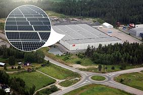 Solcellsanläggning installeras på logistikfastigheten Grönsta 2:48 i Eskilstuna 2