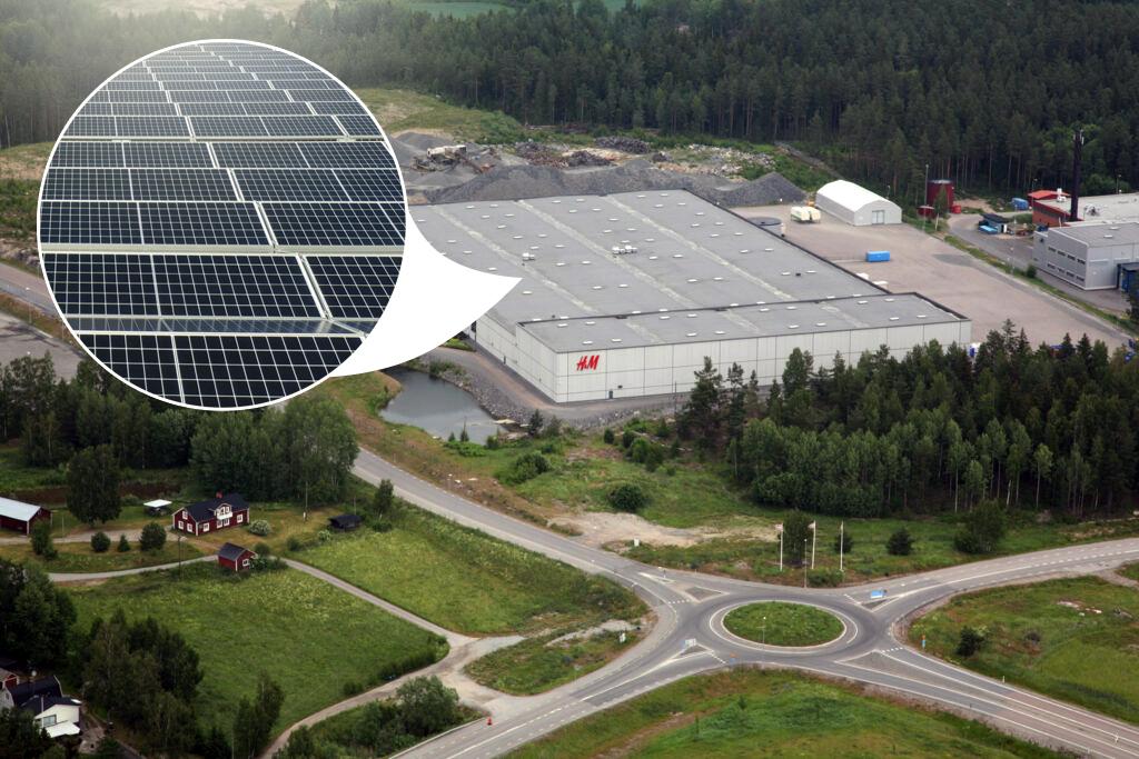 Solcellsanläggning installeras på logistikfastigheten Grönsta 2:48 i Eskilstuna 1